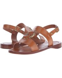 Frye - Rachel Harness Flat Sandals - Tan - Lyst