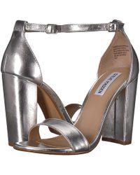 a5f69f812fb0 Lyst - Steve Madden Bowwtye Heel Sandal in Pink