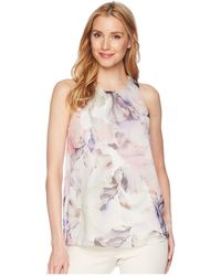 Vince Camuto - Sleeveless Diffused Blooms Blouse - Lyst