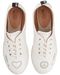 Love Moschino - Faux Leather Espadrille W/ Gold Details - Lyst