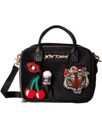Betsey Johnson - Velvet With Appliques Lunch Tote - Lyst