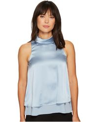 Ellen Tracy - Double Layer High Neck Shell - Lyst