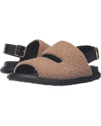 Marni - Wool Jersey Furry Stitch Sandal - Lyst