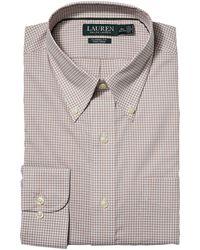 Lauren by Ralph Lauren - Slim Fit No-iron Cotton Dress Shirt - Lyst