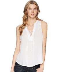 Stetson - 1577 Rayon Crepe Laced Loose Tank Top - Lyst