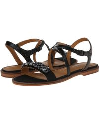 679ea7485e5 Lyst - Enzo Angiolini Flat Gladiator Sandals Makalya in Black