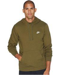 97c938704 Lyst - Nike Club Fleece Full-zip Hoodie (watermelon/watermelon/white ...