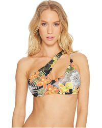 The Bikini Lab - Tropic Like It's Hot Cut Out One Shoulder Midkini Top - Lyst
