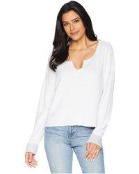 Three Dots - Beach Terry Reversible Split-neck Sweatshirt - Lyst