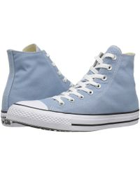 2f02ac917448 Lyst - Converse Chuck Taylor® All Star® Leather W  Thermal Hi in Blue