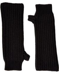 Marni   Zip Detailed Wool English Rib Fingerless Mitten   Lyst