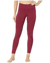 9cc79059022a68 Reebok - Mesh Tights (rustic Wine) Casual Pants - Lyst