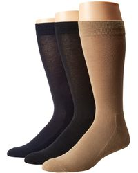 Hue - Solid Sock With Half Cushion 3-pack - Lyst