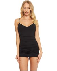 Vince Camuto - Riviera Solids Shirred Swimdress W/ Removable Soft Cups - Lyst