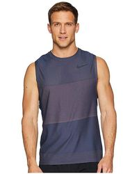 3dfb9d60 Nike - Breathe Tank Top Hyper Vent (thunder Blue/hyper Crimson/black)