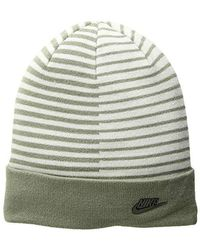 a99612e9 Nike - Nsw Beanie Striped (dark Stucco/light Bone/dark Antique Black)