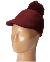 BCBGMAXAZRIA - Winter Pom Baseball Hat - Lyst