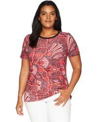 Lauren by Ralph Lauren - Linen-blend T-shirt - Lyst