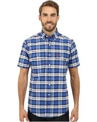 U.S. POLO ASSN. | Short Sleeve Plaid Sport Shirt | Lyst