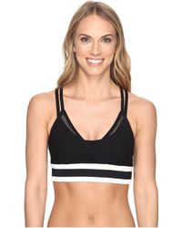 Blanc and Noir - Ballet Wrap Bra Top - Lyst
