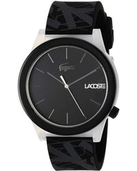 3759125dd14 Lyst - Lacoste  motion  Quartz Plastic And Rubber Casual Watch ...