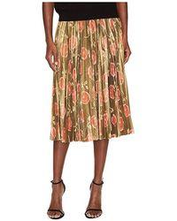 9de74dd0d6 Kate Spade - Hazy Rose Pleated Lame Skirt (black Multi) Skirt - Lyst