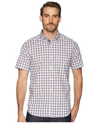 9f19b8e3f0e4ac Nautica - Short Sleeve Plaid Poplin Woven Shirt (bright White) Clothing -  Lyst