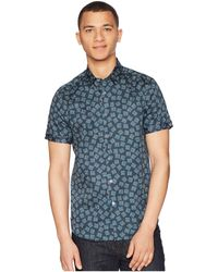 9da060647e Ted Baker - Tern Short Sleeve Square Geo Print Shirt - Lyst