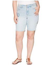 62467fcc46 NYDJ Petite Briella Roll Cuff Shorts In Clay - Lyst