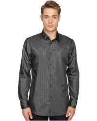 Just Cavalli | Regular Fit Leather Effect Woven Shirt | Lyst