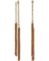 Guess | Twist Hoop With Pave Accent Earrings | Lyst
