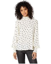 Sanctuary - Carrie Smocked Blouse (champagne Dots) Long Sleeve Pullover - Lyst