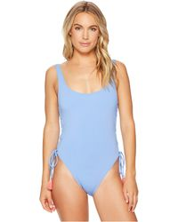 Vince Camuto - Riviera Solids Lace-up U-neck One-piece Swimsuit W/ Removable Soft Cups - Lyst