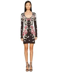 7bd1eb8ccc4 Just Cavalli - Long Sleeve Uffizi Print Jersey Dress (bordeaux) Dress - Lyst