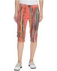 Jamie Sadock - Skinnyliscious Parfait Print Fly Front 24.5 In. Knee Capris - Lyst