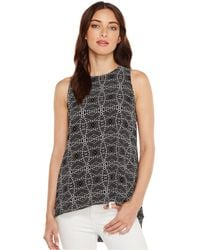 Vince Camuto | Sleeveless Yoruba Graphic High-low Hem Blouse | Lyst