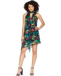 Maggy London - Hot Tropics Printed Chiffon Swing Dress - Lyst