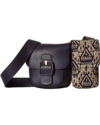 ba6ec1a55343 Tory Burch - Sawyer Embellished Double-pocket Shoulder Bag - Lyst