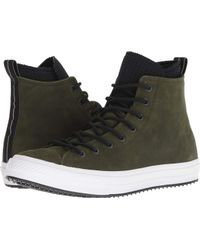 2f42df51b38f Lyst - Converse Utility Green black white Ct All Star Hi Wp Leather ...