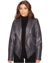 Jack BB Dakota - Amanda Washed Vegan Leather Jacket - Lyst