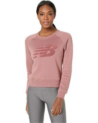 New Balance - Chenille Brushed Crew Top - Lyst