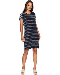 19a955ac96 Two By Vince Camuto - Short Sleeve Mixed Stripe T-shirt Dress - Lyst