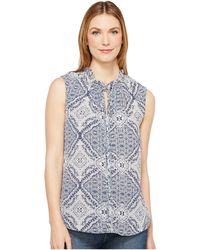 B Collection By Bobeau - Dahlia Printed Blouse - Lyst