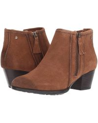913da90c2889a Earth - Osprey (brown Suede/water Resistant) Zip Boots - Lyst
