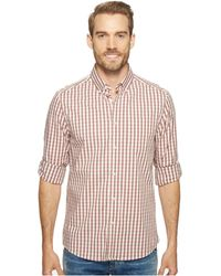 Kenneth Cole - Long Sleeve Iridescent Check Shirt - Lyst