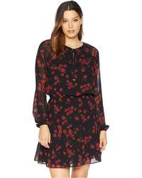 d7af96d113783 Lyst - MICHAEL Michael Kors Shimmer Faux Wrap Flounce Dress (petite ...