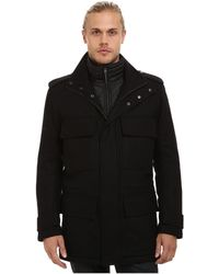 Marc New York - Liberty Pressed Wool Car Coat W/ Removable Quilted Bib - Lyst