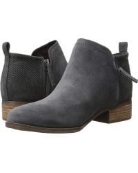 TOMS - Deia (forged Iron Suede/textured Velour Mix) Slip On Shoes - Lyst