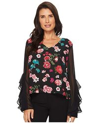 6cee4be9a57317 Vince Camuto Sleeveless Garden Heirloom Floral Blouse (antique White) Blouse  in White - Save 56% - Lyst
