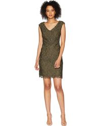 Lauren by Ralph Lauren - Montie Cap Sleeve Day Dress - Lyst
